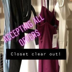 CLOSET CLEAR OUT LIMITED TIME